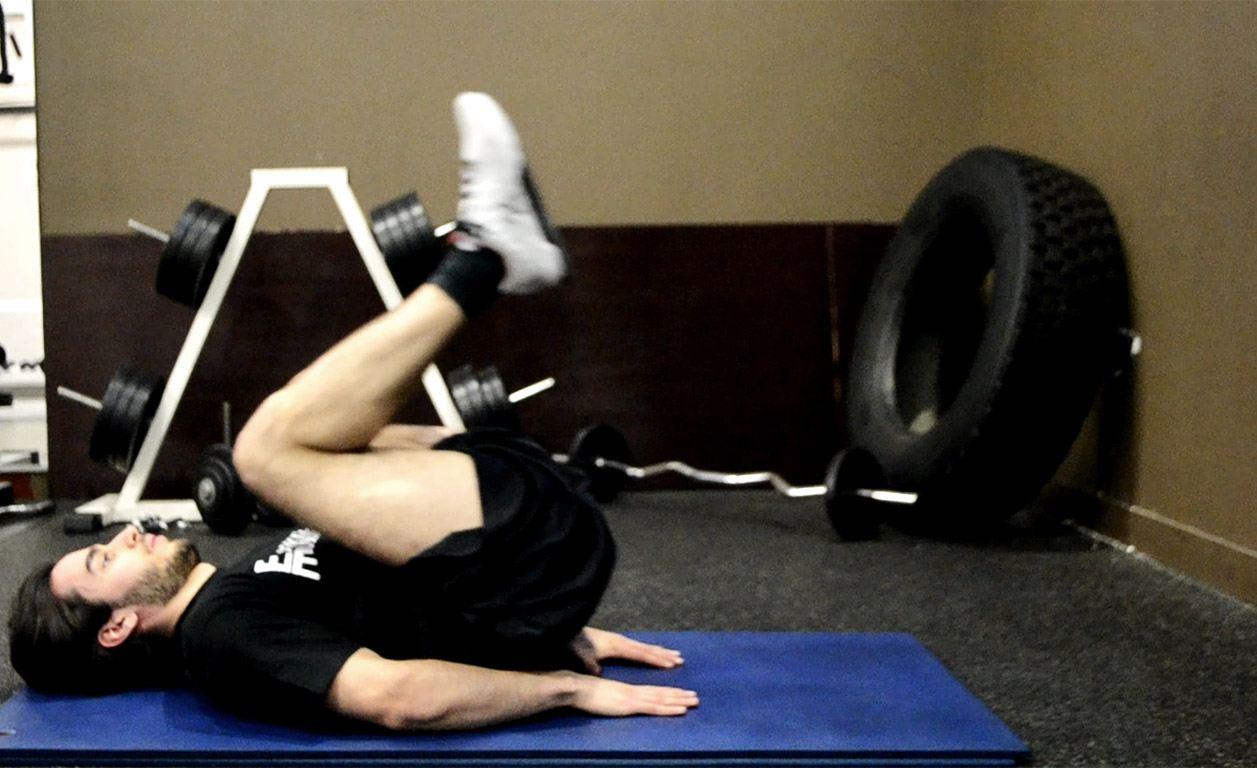 Crunch inversé - Monter les jambes