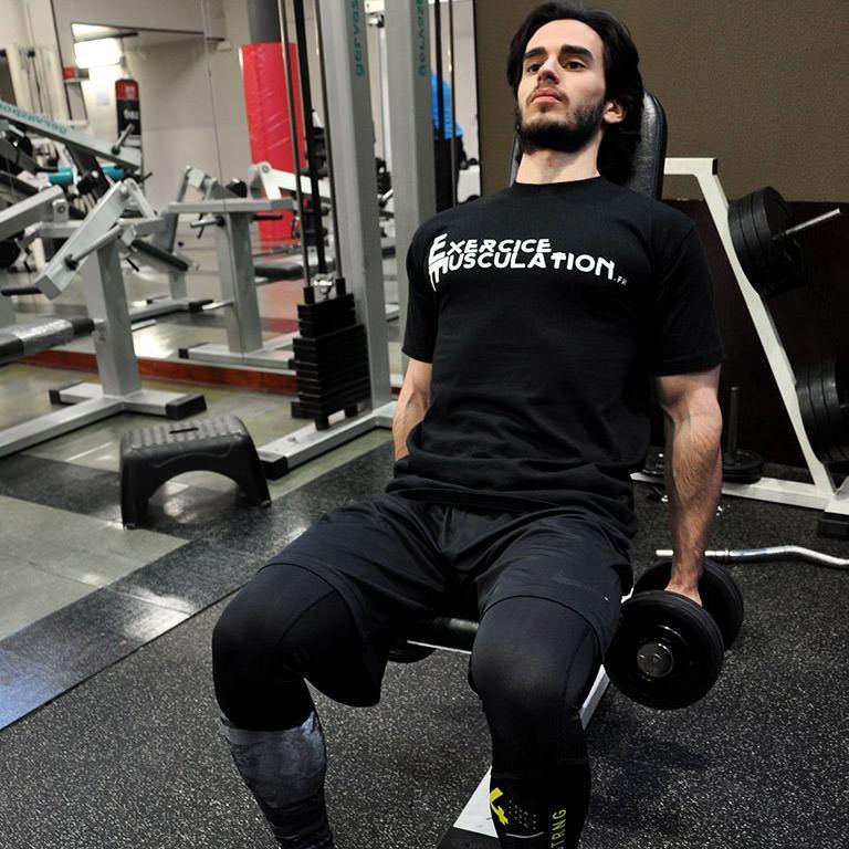 Curl inclin avec halt res fitness heroes - Developpe incline avec halteres ...