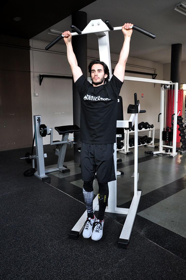 Relevé de jambes suspendu – Position de départ