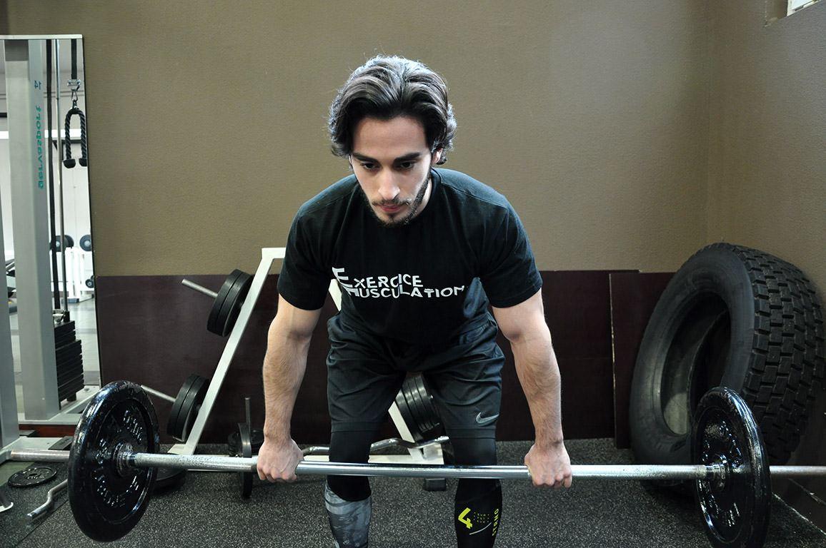 Rowing barre – Descendre la barre