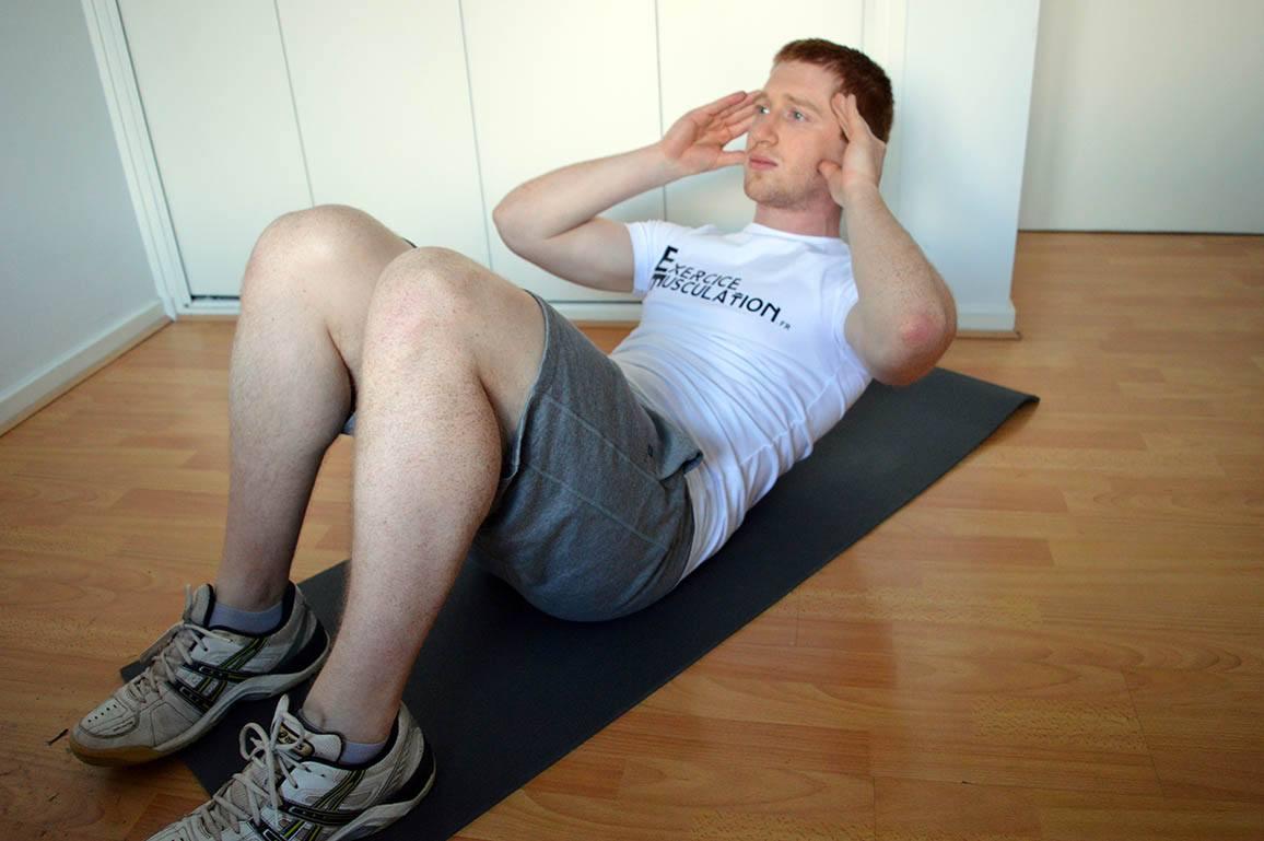 Programme musculation maison pour débutant - Crunch 2