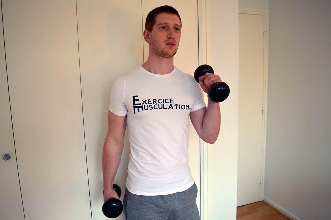 Programme musculation maison pour débutant - Curl marteau 3