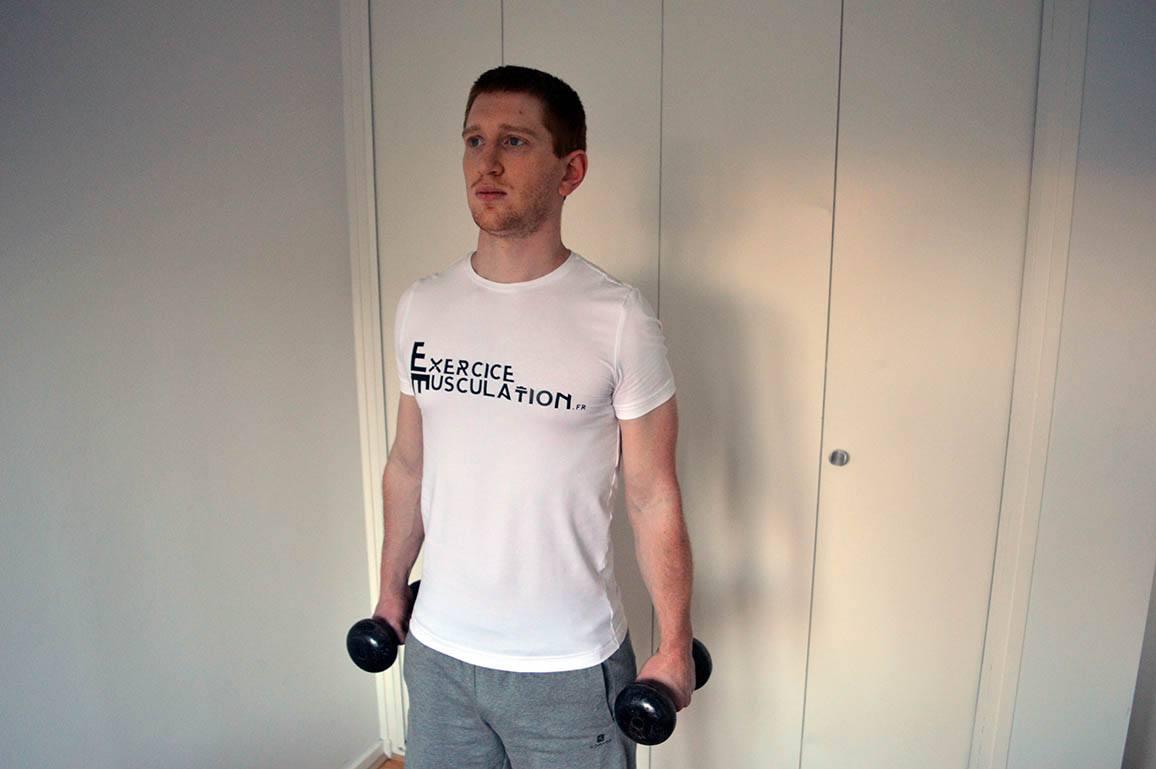 Programme musculation maison pour débutant - Curl rotation 1