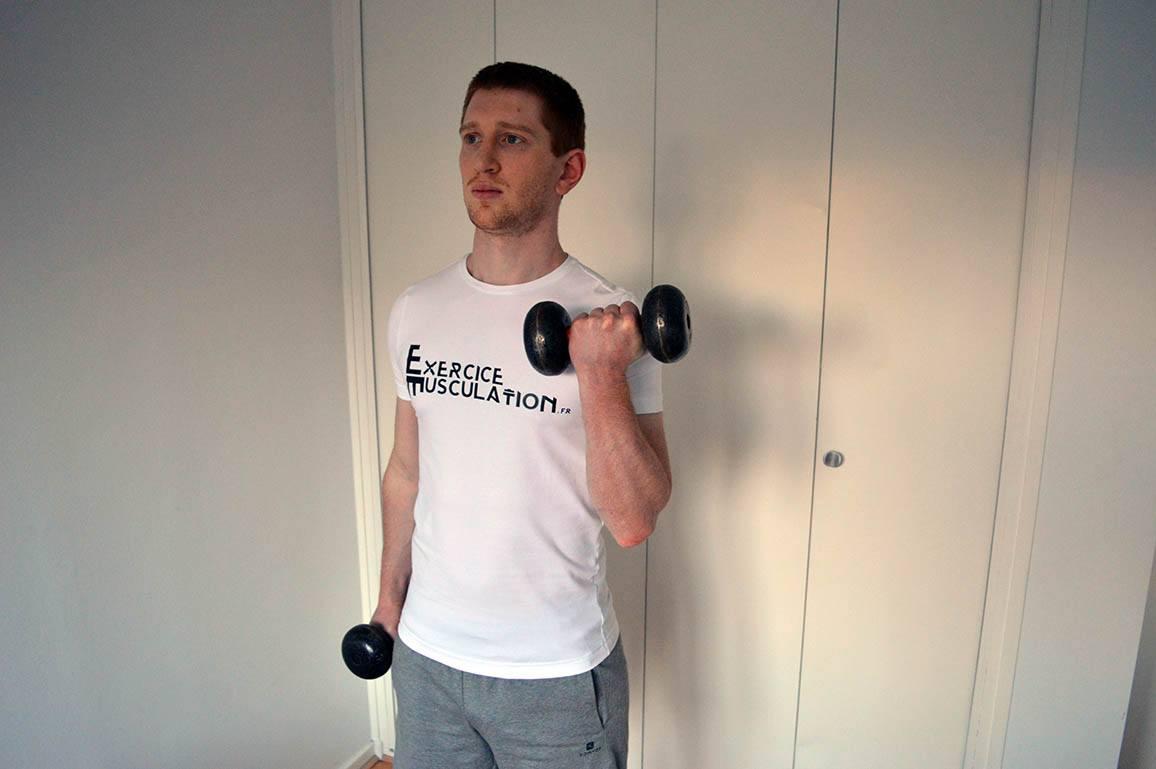 Programme musculation maison pour débutant - Curl rotation 4
