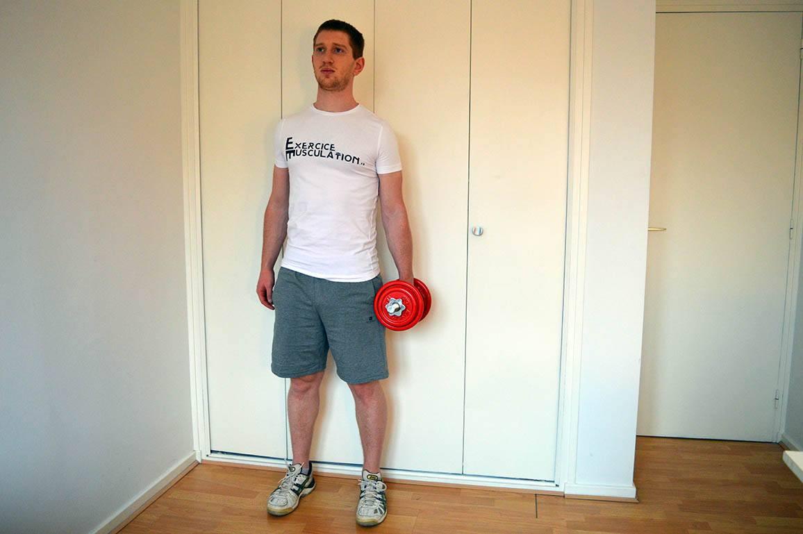 Programme musculation maison pour débutant - Flexion latérale 1
