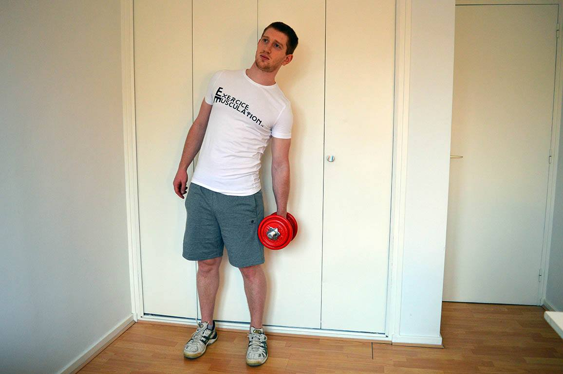 Programme musculation maison pour débutant - Flexion latérale 2