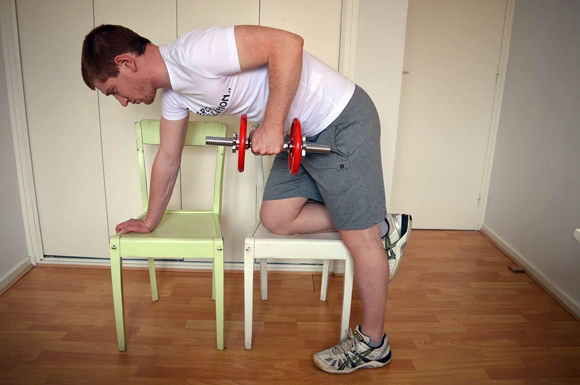 Programme musculation maison pour débutant - Kickback 1