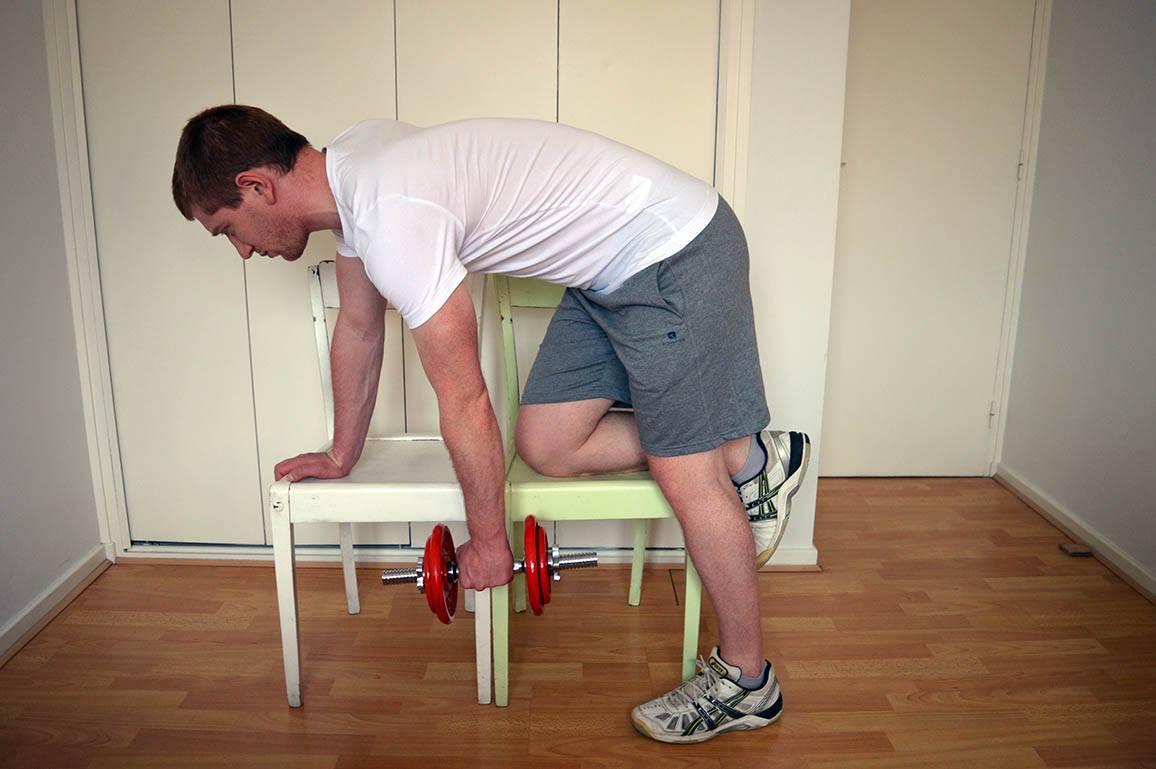 Programme musculation maison pour débutant - Rowing 1