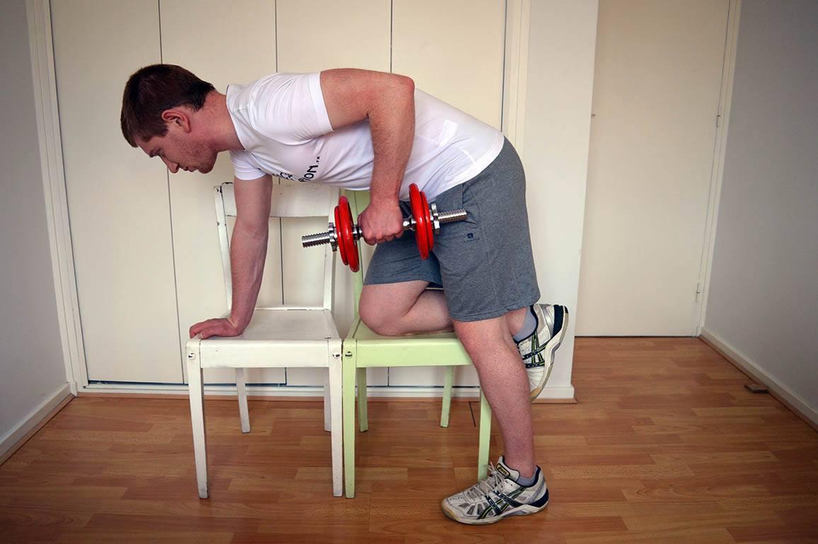 Programme musculation maison pour débutant - Rowing 2