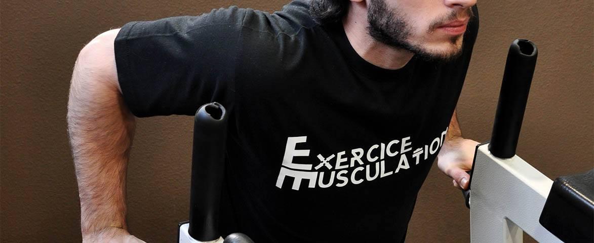 Dips triceps - Extensions aux barres parallèles
