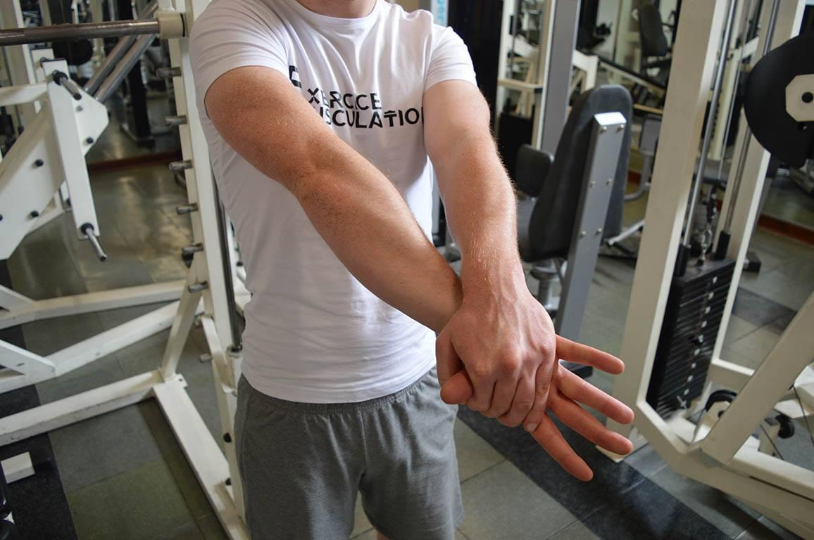Étirement avant bras - Position 9