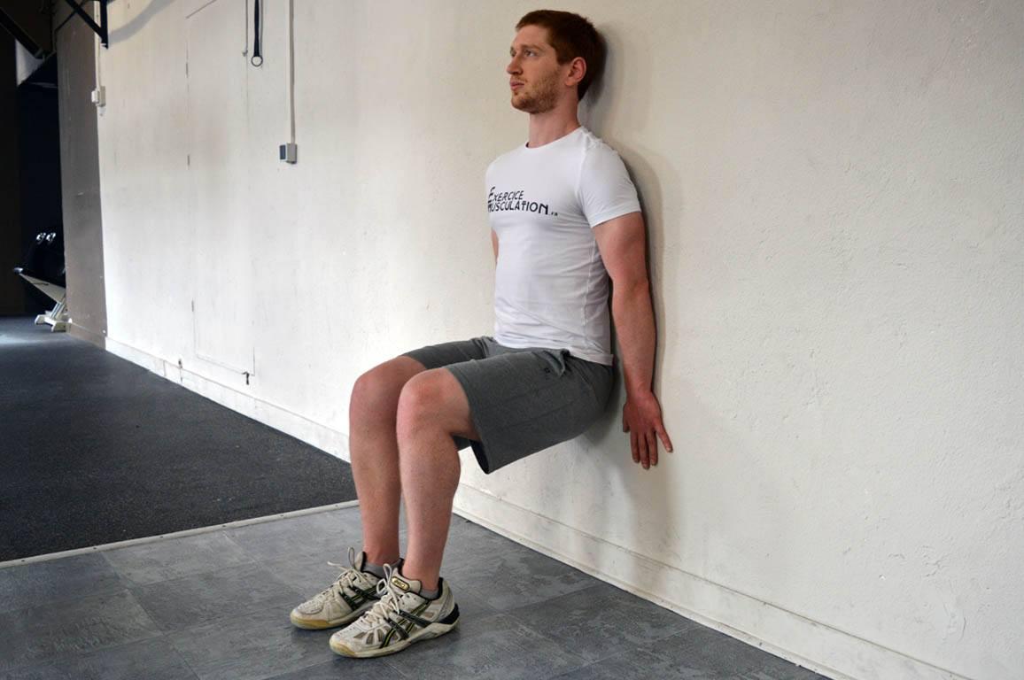 Exercice de la chaise - Exécution