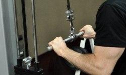 Extension poulie haute en pronation – Triceps pushdown