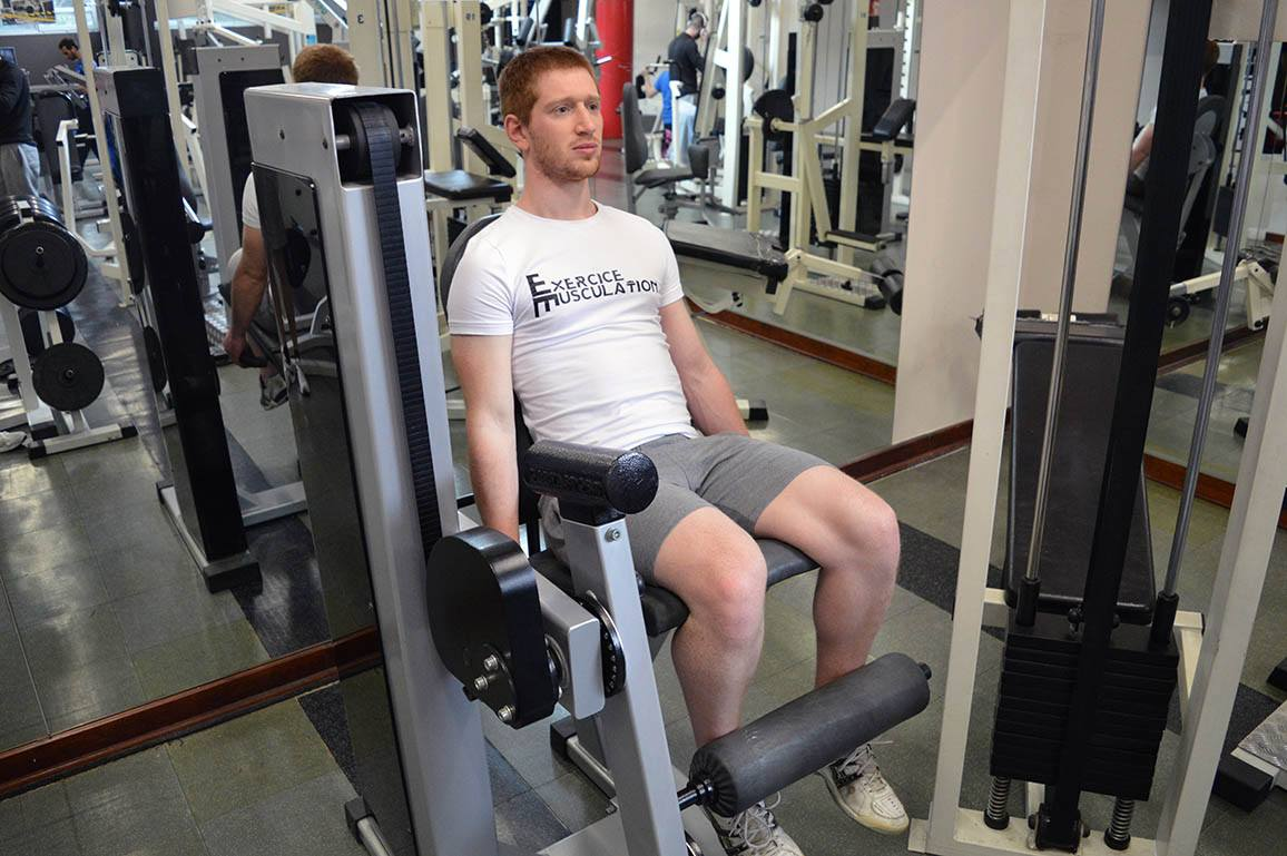 Leg extension – Position de départ