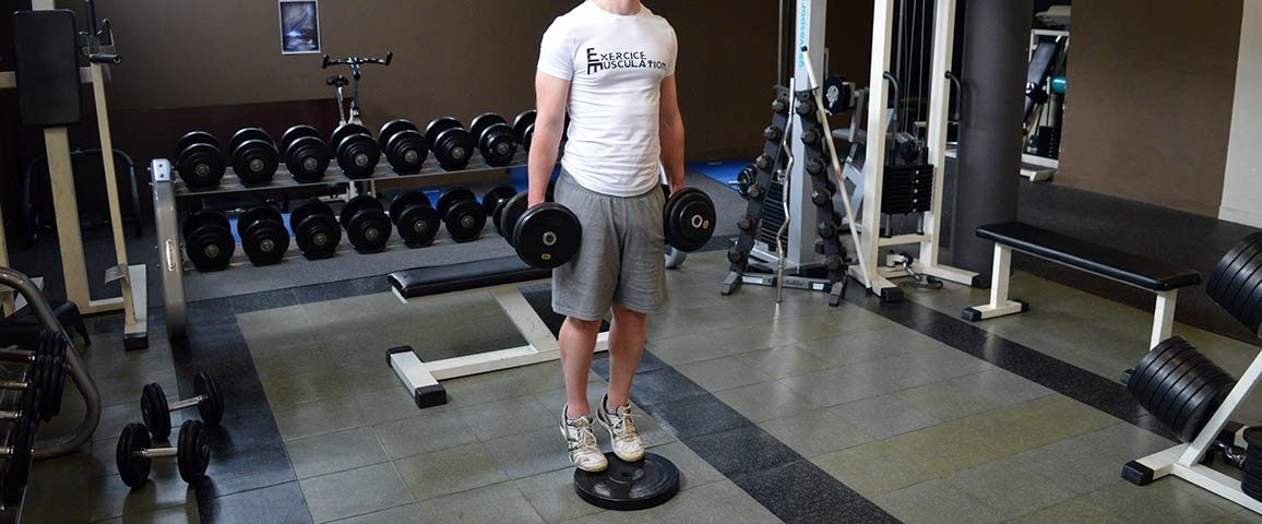 Mollets debout avec haltères - Standing dumbbell calf raise
