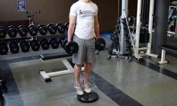 Mollets debout avec haltères – Standing dumbbell calf raise