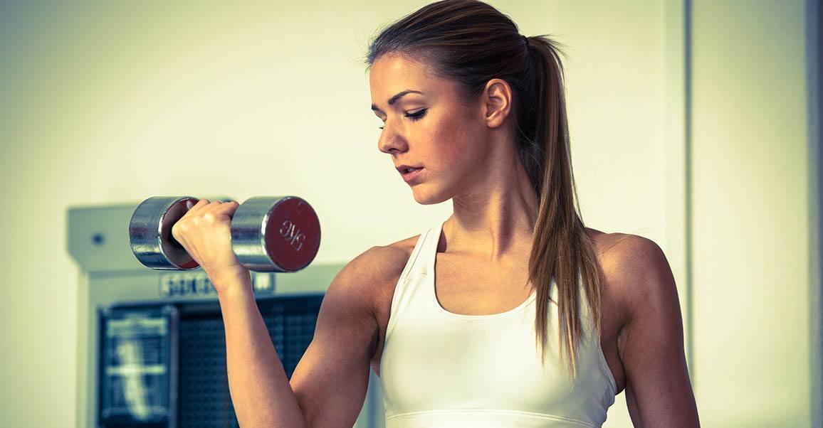 Musculation femmes - Haltère, curl