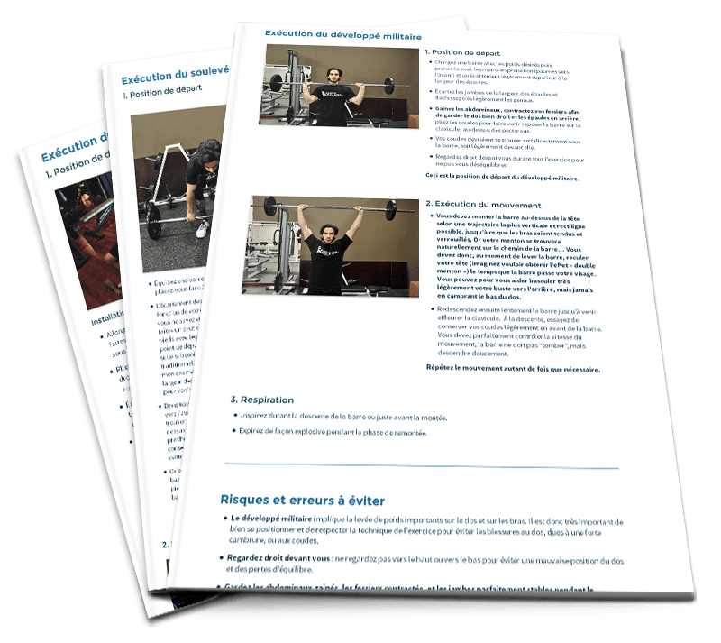 Programme debutant musculation force exercices