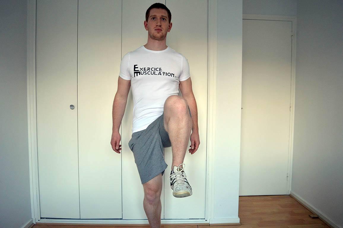 Programme remise en forme - Relevé de genoux 1