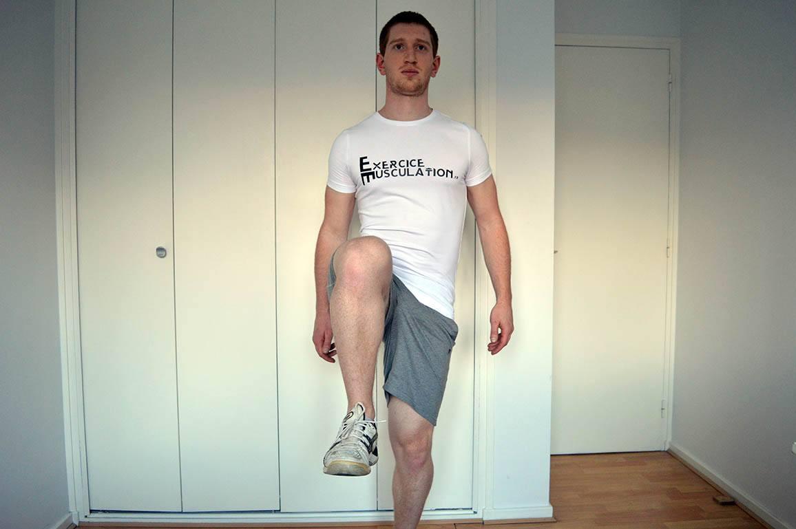 Programme musculation maison pour débutant - Relevé de genoux 2