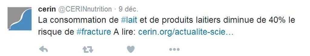 Un autre tweet non fondé du CERIN