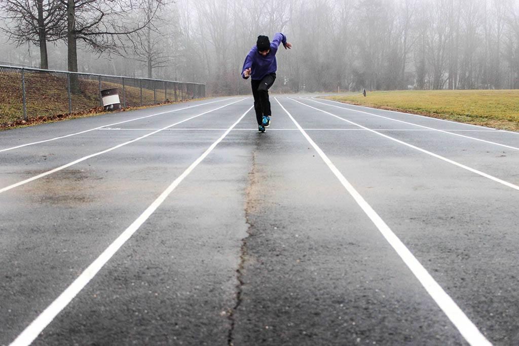 HIIT - Un homme sprinte