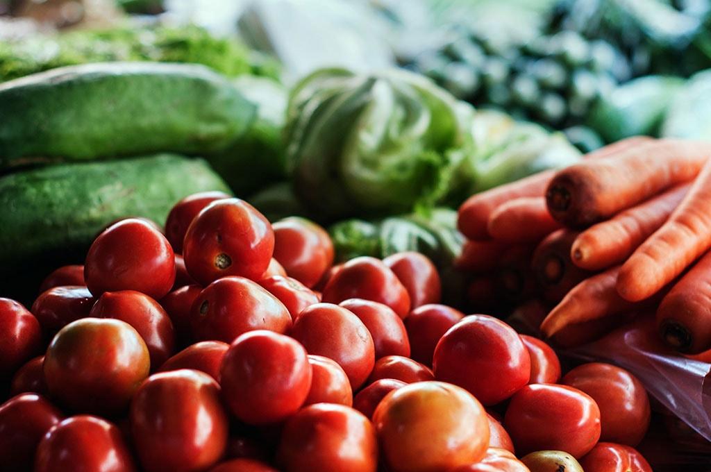 Étale de légumes