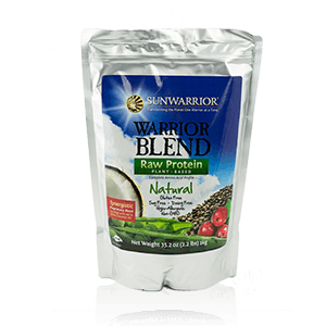Emballage des protéines Warrior Blend Nature de Sunwarrior