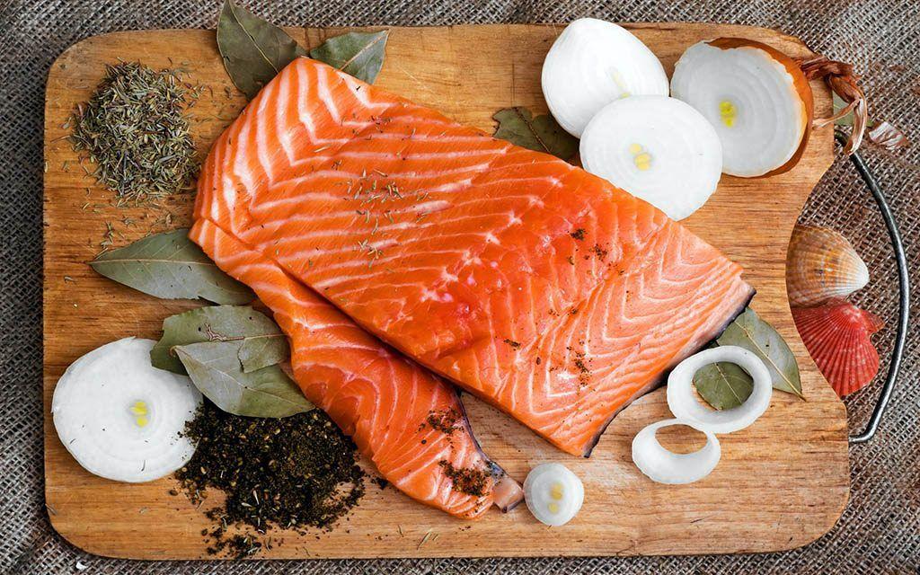 Du saumon cuisiné - Un plat riches en omégas 3